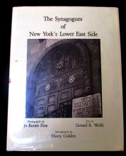 THE SYNAGOGUES OF NEW YORK'S LOWER EAST SIDE DATED 1978