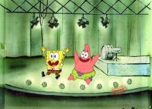 SpongeBob Production Cel