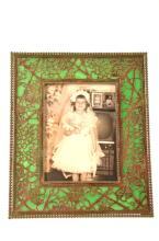 Tiffany Studios  photo frame in Grapevine pattern