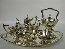 A very good Gorham sterling silver tea service with sterling tray.