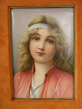 PAINTED PORCELAIN PAINTED PLAQUE.