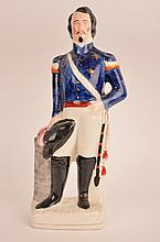 Circa 1860 Staffordshire portrait figurine of Louis Napoleon