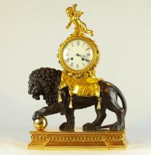 19th C. Dore Bronze Angel Figural Clock