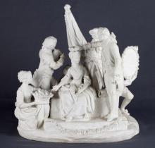 Sevres Bisque Porcelain Statue of Ceremony Scene