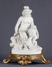 19th C. Bisque Porcelain Figural Statue