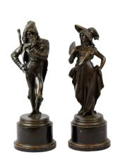 Pair of 19th Century Bronze Standing Figures