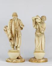 Early 20th C. Pair of Royal Worcester Figures