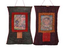 Two Pieces Tibetan Thangka