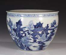 Chinese Blue and White Jardiniere