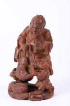 Chinese Bamboo Carved Fishman