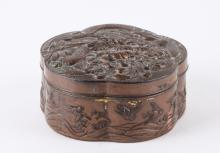 A Copper Gilt Cover Box