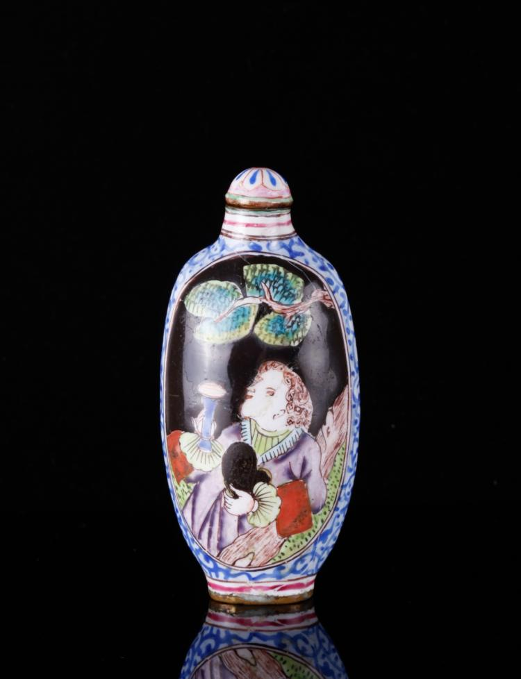 18th C. Canton Enamels Snuff Bottle