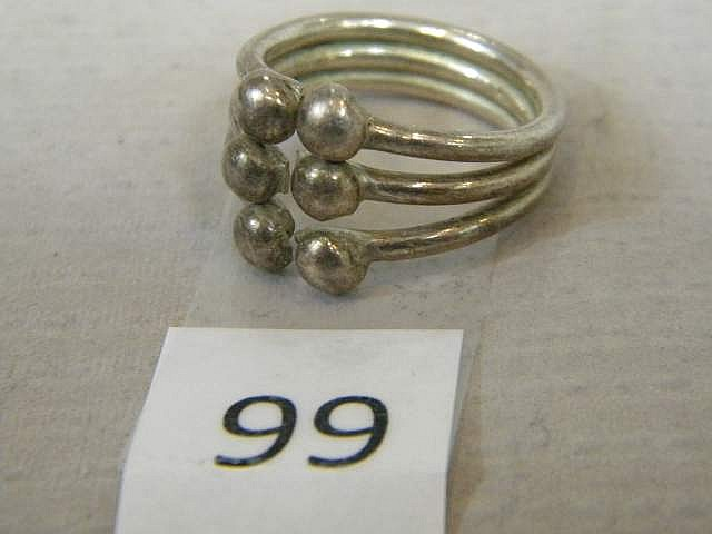 Sterling Silver Triple Band Ring Size 8