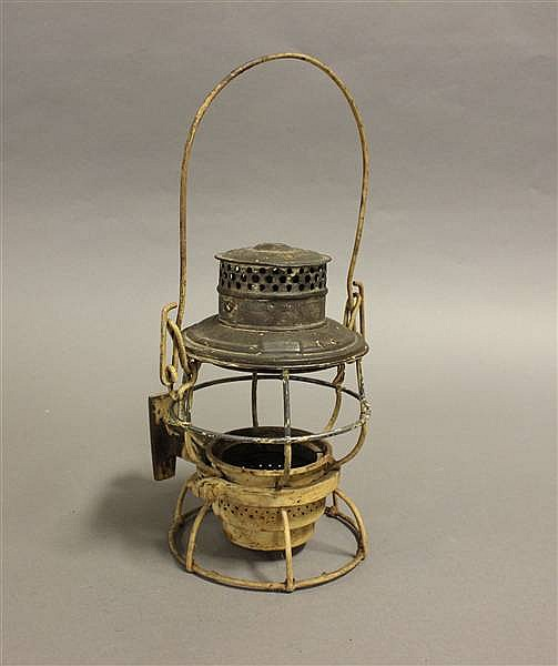 RAILROAD LANTERN MWPPSCO KERO NO GLOBE, POT OR BURNER