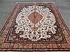 PURE SILK PERSIAN QUM SIGNED 6.7' X 9.7'