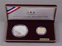 US MINT 1988 OLYMPIC COINS WITH $5 GOLD AND SILVER DOLLAR
