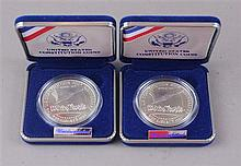TWO 1987 US CONSTITUTION SILVER DOLLARS