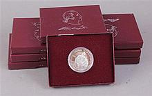 EIGHT GEORGE WASHINGTON 250TH ANNIVERSARY COMMEMORATIVE SILVER HALF DOLLARS
