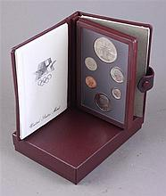 TWO 1984 LOS ANGELES OLYMPIC PRESTIGE COIN SETS INCLUDING SILVER DOLLARS