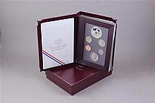 TWO US 1988 OLYMPIC PRESTIAGE COIN SETS WITH CLAD COINS