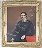 19TH CENTURY OIL ON CANVAS PORTRAIT OF MARY TODD LINCOLN UNSIGNED