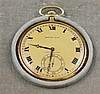 TIFFANY & CO MADE BY TOUCHIN & CO 18K YELLOW GOLD HUNTER CASE 19 JEWELS #41413 POCKET WATCH WITH ORIGINAL BOX, 43 MM DIAMETER