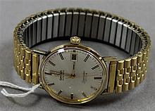 OMEGA AUTOMATIC SEAMASTER DE VILLE MENS GOLD TONE WATCH, MOVEMENT 1 1/4