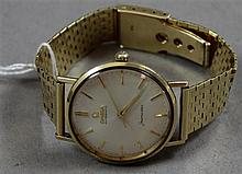 STAMPED 14K YELLOW GOLD OMEGA AUTOMATIC  SEAMASTER MENS WATCH, 7 1/4