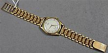 STAMPED 750, 18K YELLOW GOLD AVIA 15 JEWELS MENS WATCH, 7 1/2