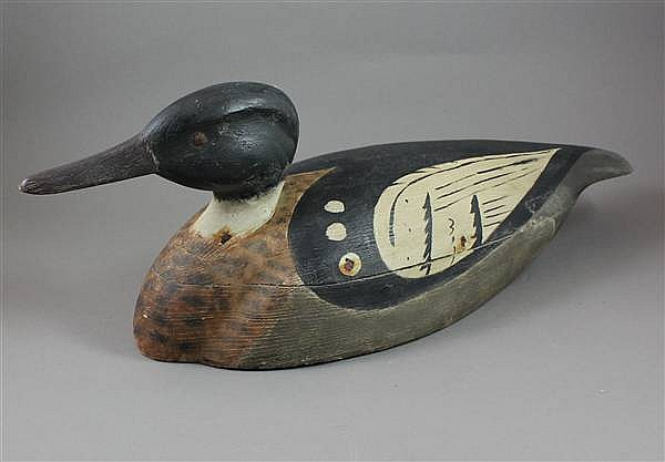 ATTRIBUTED TO GENE HENDERSON RED BREASTED MERGANSER DRAKE