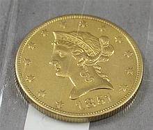 1851O U.S. $10 LIBERTY HEAD GOLD COIN