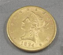 1894 U.S. $10 LIBERTY HEAD GOLD COIN