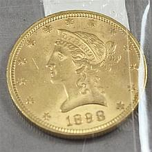 1898 U.S. $10 LIBERTY HEAD GOLD COIN