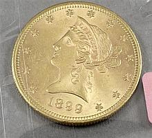 1899 U.S. $10 LIBERTY HEAD GOLD COIN