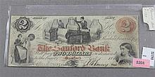 1866 STATE OF MAINE, THE SANFORD BANK $2 NOTE