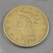 1879 U.S $10 LIBERTY HEAD GOLD COIN