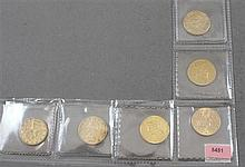 6 U.S. $10 LIBERTY HEAD GOLD COINS 1886S, 1886S, 1888, 1898, 1898, 1899