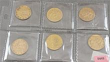 6 U.S. $10 LIBERTY HEAD GOLD COINS 1880, 1882, 1886S, 1887S, 1888S, 1898