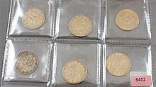 6 U.S. $10 LIBERTY HEAD GOLD COINS 1881, 1885, 1894, 1899, 1900, 1901S