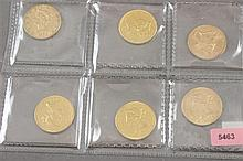 6 U.S. $10 LIBERTY HEAD GOLD COINS 1880, 1881S, 1886S, 1893, 1894, 1899