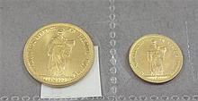 (2) 1974 CONCA DEI MARINI GOLD COINS, 6.0 GRAMS AND 2.99 GRAMS