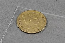 1856 10 FRANCS .900 GOLD COIN 3.23 GRAMS