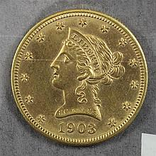 1903 U.S. $10 LIBERTY HEAD GOLD COIN