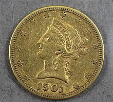 1901S U.S $10 LIBERTY HEAD GOLD COIN