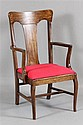 OAK VASE BACK ARMCHAIR