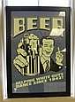 BLACK FRAMED BEER POSTER