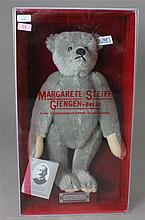 GREY MOHAIR STEIFF BEAR IN ORIGINAL BOX, BEAR IS APPROXIMATELY 12