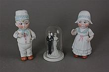 (3) GERMAN BISQUE FIGURINES