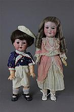 (2) GERMAN ARMAND MARSEILLE BISQUE HEAD DOLLS