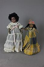 (2) ANTIQUE BLACK DOLLS